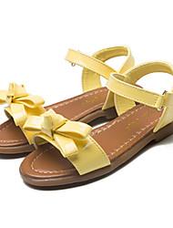 Недорогие -Девочки Обувь Полиуретан Весна / Лето Оригинальная обувь / Детская праздничная обувь Сандалии Бант / На липучках для Желтый / Розовый
