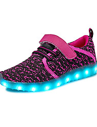 cheap -Girls' Shoes Tulle Customized Materials Spring Summer Light Up Shoes Comfort Athletic Shoes Running Shoes LED Hook & Loop Split Joint for