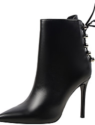 cheap -Shoes Synthetic Fall / Winter Cowboy / Western Boots / Fashion Boots / Combat Boots Boots Stiletto Heel Booties / Ankle Boots Black
