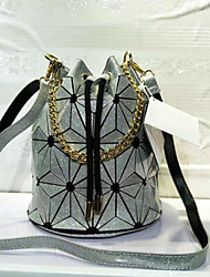 cheap -Women's Bags PU Shoulder Bag Pocket for Casual All Seasons Gold Black Silver Blushing Pink Fuchsia