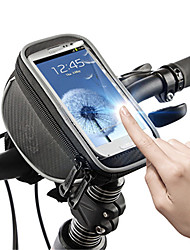preiswerte -ROSWHEEL Fahrradtasche 1.5L Fahrradrahmentasche Handy-Tasche Einfach zu installieren Reflexstreiffen Tasche für das Rad PU-Leder