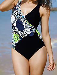 Dámské Jednodílné Plavky Sexy Polyester,Bandeau Černá