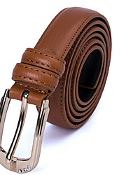 cheap -Women's Genuine Leather Waist Belt,Light Brown Red Black White Casual