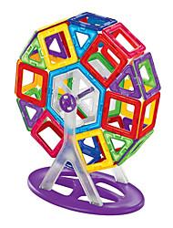Недорогие -Магнитный конструктор Магнитные плитки Конструкторы 58 pcs Азия трансформируемый Мальчики Девочки Игрушки Подарок