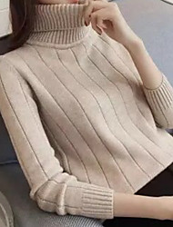 cheap -Women's Daily Casual Solid Round Neck Cardigan, Long Sleeves Winter Cashmere