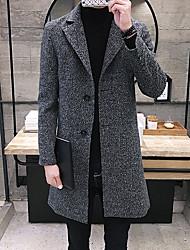 Tisk Denní Na běžné nošení Kabát-Zima Polyester Do V Dlouhé rukávy Dlouhé Velkoformátové