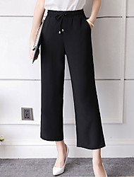 cheap -Women's High Rise Micro-elastic Chinos Business Pants,Simple Chinos Business Solid