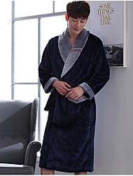 abordables -Costumes Pyjamas Homme, Mosaïque Epais Polyester Marine Vin
