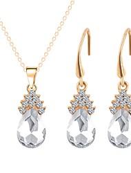 abordables -Femme Plaqué or Adorable Ensemble de bijoux 1 Collier / Boucles d'oreille - Classique / Mode Blanc Set de Bijoux / Collier Pour Mariage /