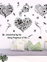 abordables -Animaux A fleurs/Botanique Stickers muraux Autocollants muraux 3D Autocollants muraux décoratifs, Papier Décoration d'intérieur Calque