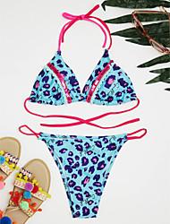 cheap -Women's Bikini - Leopard Print Cheeky