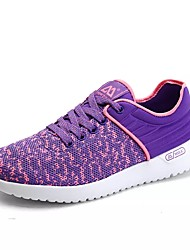 cheap -Women's Shoes Fabric / PU(Polyurethane) Spring / Fall Comfort Athletic Shoes Running Shoes Flat Heel Round Toe Purple / Red / Blue