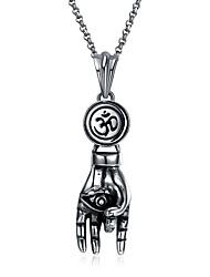 Недорогие -Lureme® 1 Нержавеющая сталь Титановая сталь на открытом воздухе за Серебряный / Муж. / Ожерелья с подвесками
