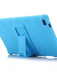 abordables -Motif de vague motif silicone caoutchouc gel peau couvercle de la coque avec support pour lenovo onglet 4 8 (tb-8504) 8,0 pouces tablet pc