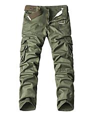 cheap -Men's Simple Cotton Chinos Pants - Patchwork