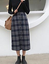 cheap -Women's Casual Pencil Skirts - Check