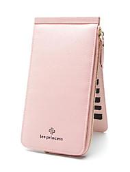 cheap -Women Bags PU Wallet Zipper for Casual All Season Coffee Blushing Pink Red Black