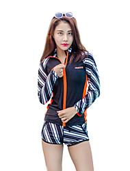 cheap -HISEA® Women's Rash Guard Dive Skin Suit Windproof, SPF50, UV Sun Protection Lycra Long Sleeve Swimwear Beach Wear Diving Suit / Quick Dry / Stretchy