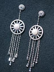 cheap -Women's Stud Earrings Hoop Earrings Rhinestone Imitation Pearl Rhinestone Silver Plated Jewelry Silver Wedding Party Costume Jewelry