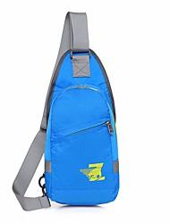baratos -Homens Bolsas Fibra Sintética Sling sacos de ombro Ziper para Ao ar livre Todas as Estações Azul Preto Verde Tropa Verde Claro Fúcsia