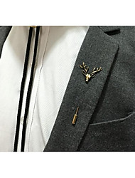 cheap -Men's Brooches Animals Vintage Alloy Irregular Gold Silver Jewelry For Party Ceremony
