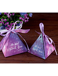 cheap -Card Paper Favor Holder with Ribbons Favor Boxes / Candy Jars and Bottles / Gift Boxes - 10pcs