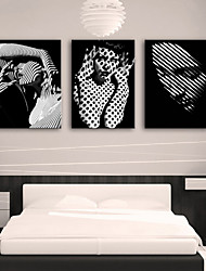 abordables -Toile Moderne, Trois Panneaux Toile Format Vertical Imprimé Décoration murale Décoration d'intérieur