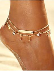 cheap -1 Piece Metal Foot Accent Women's Summer Casual Gold Silver