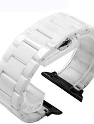 economico -Cinturino per orologio  per Apple Watch Series 3 / 2 / 1 Apple Chiusura classica Ceramica Custodia con cinturino a strappo