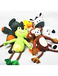 preiswerte -Kauknochen für Katzen Kauspielzeug für Hunde quietschen Elefant Ente Frosch Affe Esel Baumwollstoff Für Hund Welpe