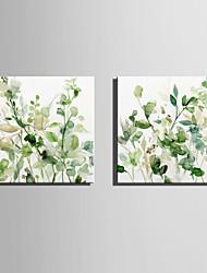 Недорогие -Холст для печати Modern, 2 панели холст Квадратный С картинкой Декор стены Украшение дома
