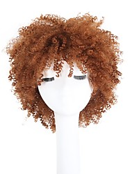 cheap -Synthetic Wig Curly Kinky Curly Pixie Cut With Bangs African American Wig Brown Capless Halloween Wig Celebrity Wig Party Wig Lolita Wig
