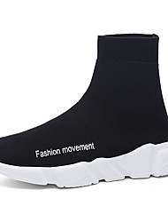 cheap -Men's Knit / Fabric Spring / Summer Comfort Sneakers Black / Gray