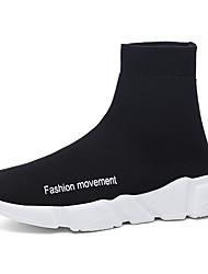 economico -Per uomo Scarpe A maglia Tessuto Primavera Estate Comoda Sneakers Con applique per Casual Nero Grigio