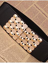 cheap -Women's Fabric Waist Belt,Black Casual