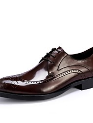 cheap -Men's Formal Shoes Leather Spring / Fall Business Oxfords Black / Burgundy / Party & Evening / Dress Shoes