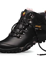 Недорогие -Муж. обувь Наппа Leather Зима Осень Удобная обувь Спортивная обувь Для пешеходного туризма для Атлетический на открытом воздухе Черный