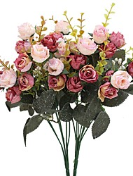 cheap -Artificial Flowers 2 Branch Pastoral Style Roses Tabletop Flower