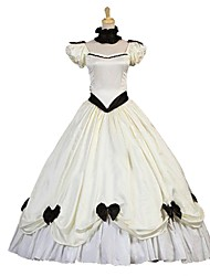 cheap -Victorian Rococo Costume Women's Adults' Dress Ivory Vintage Cosplay Taffeta Short Sleeves Puff/Balloon Ankle Length