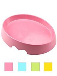 baratos -L Gato Tigelas e Bebedouros Animais de Estimação Tigelas e alimentação de animais Durável Design Ergonómico Amarelo Verde Azul Rosa claro