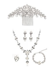 cheap -Women's Hair Combs Bridal Jewelry Sets Rhinestone Imitation Pearl Imitation Diamond Alloy Dream Catcher Fashion European Wedding Party