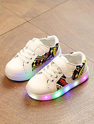 cheap -Boys' Shoes Synthetic Spring Light Up Shoes First Walkers Comfort Sneakers Animal Print LED Hook & Loop Gore for Casual Outdoor White