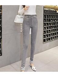 cheap -Women's Retro Cotton Opaque Print Legging,Print Gray Black