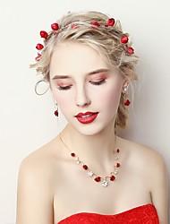 Недорогие -Жен. Комплект ювелирных изделий - Цветы Включают Красный Назначение Свадьба / День рождения