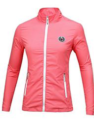 baratos -Mulheres Golfe Camiseta com Fecho A Prova de Vento Á Prova-de-Chuva Vestível Respirabilidade Golfe Exercicio Exterior