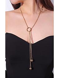 Недорогие -Жен. Ожерелья с подвесками  -  На каждый день Мода Круглый Золотой Серебряный Ожерелье Назначение Для вечеринок Повседневные