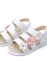 cheap -Girls' Shoes Leatherette Summer Comfort Sandals for Casual White Yellow Pink