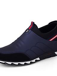 baratos -Sapatos de Condução Couro Ecológico Primavera / Outono Conforto Tênis Preto / Azul