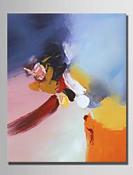 baratos -Pintados à mão Abstrato Vertical, Simples Modern Tela de pintura Pintura a Óleo Decoração para casa 1 Painel