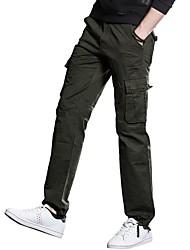 Недорогие -Муж. Панк & Готика Уличный стиль Большие размеры Хлопок Штаны Чино Брюки Однотонный